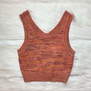 Charlotte Russe Space Dye Knit Tank Top Size S